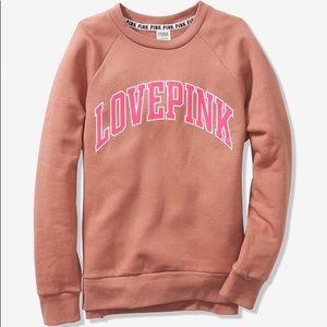 💕VS PINK MAUVE TAN LOVE PINK LEGGING CREW